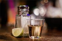 Tequila-shot lemon salt